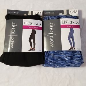 NWT Leggings bundle of 2 workout yoga Size S/M